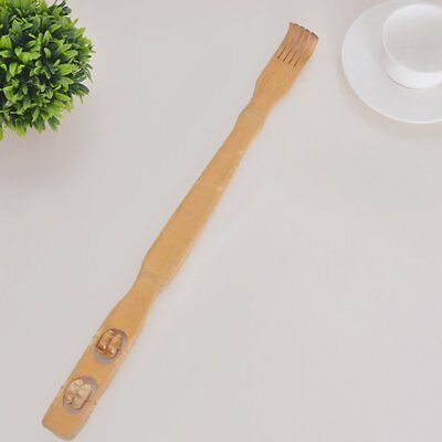 Long Reach Wooden Bamboo Scratch Back Scratcher Rack Body Massage Itchy WO
