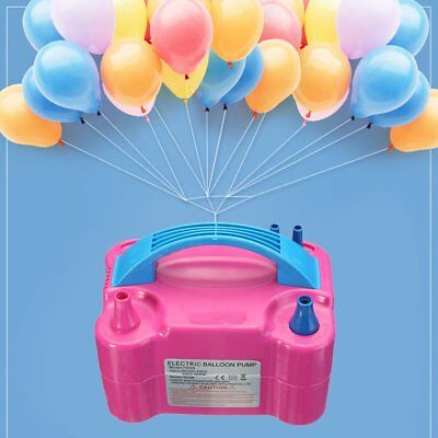 Hot Electric Balloon Inflator Pump Two Nozzle High Power Air Blower Portable WO