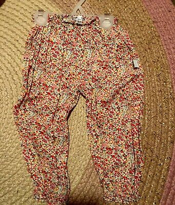 Daisy And Moose 18-24 Months Boho Slouchy Harem Pants Spring Blossom NWOT