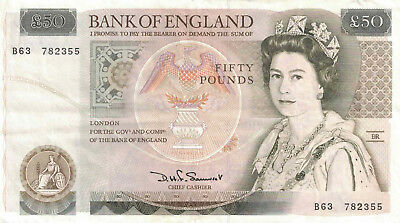 Bank of England 50 Pound Banknote.