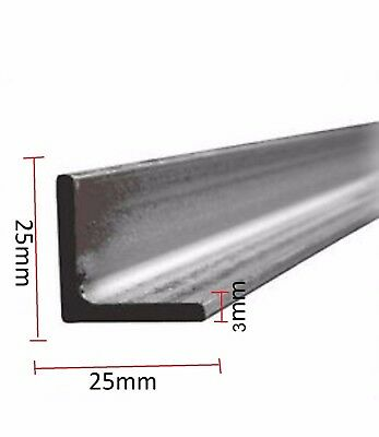 25mm x 25mm 3mm Angle Iron Mild Steel ANY ANGLE  Various Lengths available