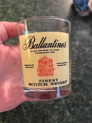 Ballantine's Scotch Finest Scotch Whiskey Glass Vintage Collectible