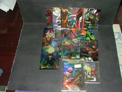 19 Wizard PROMO Cartes SPAWN ,Youngblood,Lady Death ,SPIDER-MAN Identification: