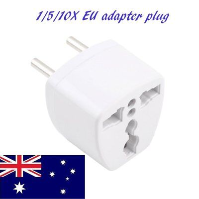 10pcs AU UK US to EU AC Power Plug Adapter Adaptor Converter Outlet Travel WO