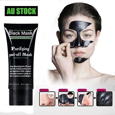 AU Blackhead Remover Nose Face Mask Strip Black Head Pore Acne Cleansing Mud WO