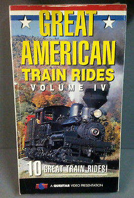 Vhs Questar Great American Train Rides Vol Iv 10 Railroad Ny To Va