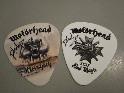 Motorhead - Phil Campbell - Signed Novelty Guitar Picks / Plectrums