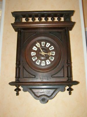 Old Henry II style wall clock, pendulum mechanism