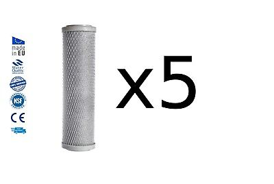 """5x Activated carbon block drinking water filter replacement chlorine removal 10"""""""