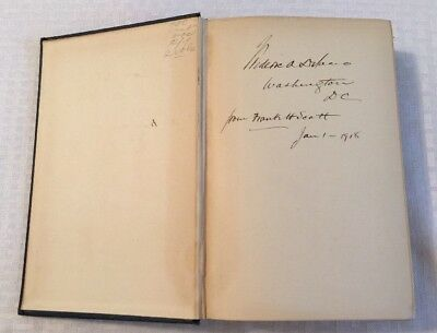 Fdr Franklin Roosevelt Uncle Federic Delano Signed Auto Book Railroad President