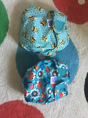 Unused Bambino Mio miosoft two-part reusable nappy - two covers Bee and Fox