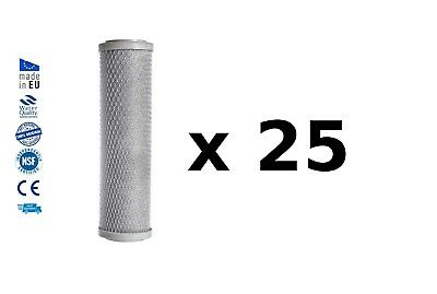 """25 Activated carbon block drinking water filter replacement chlorine removal 10"""""""