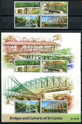 Sri Lanka 2011 Brücken Bridges Architektur 1845-1848 + Block 124-125 ** MNH