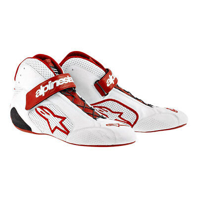 CLEARANCE! Alpinestars Tech 1-Z Race/Rally Boots in White/Red size 44 UK 10.
