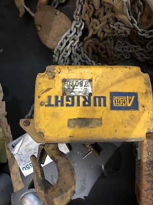 Acco Wright 3 Ton Rectangle Chain Hoist 78070 With Chain