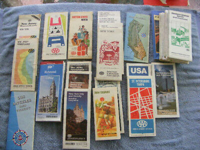 30 pc lot AAA Road Maps 1960s-1990s Various USA States few Canada Very Good Cond