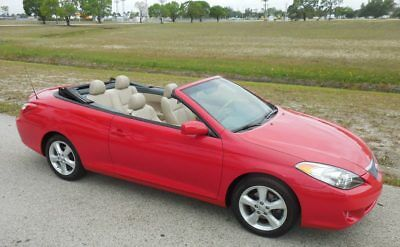 2006 Toyota Solara SLE Convertible, 3.3L V6, 65k MILES, ABSOLUTE RED! Gorgeous Low Mileage, Heated Seats, New Power Top, Navigation, Nice Florida Car