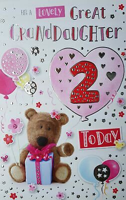 For A Special Great Granddaughter On Your 2nd Birthday Card