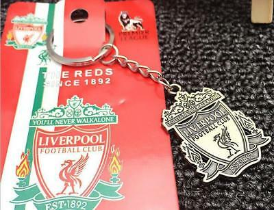 Liverpool Metal Keychain Liverpool Football Club Soccer Badge Bronze Keyring New