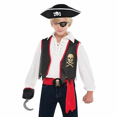 Childs Unisex Jolly Pirate Accessory Set Caribbean Sparrow Roger Fancy Dress