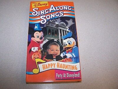 disney sing along songs happy haunting party disneyland vhs halloween rare new