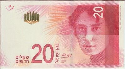 Israel Banknote  New 20 New Shekels 2017, UNC