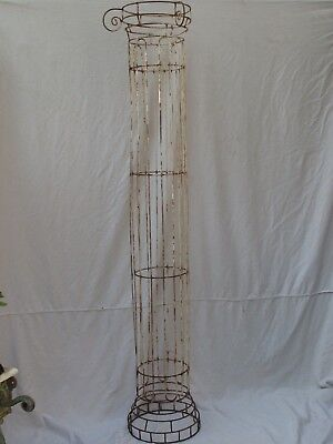 Antique Heavy Wire Tall Column Topiary