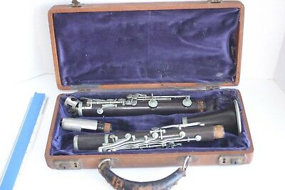 Vintage M. Lemaire Artist PARIS Clarinet  for parts or refurbish & COAST WITH 4N