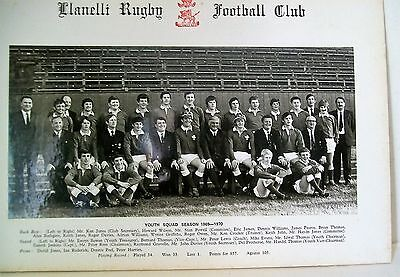 Photo Of Llanelli Rugby Youth Squad 1969-1970