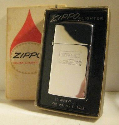 1972 Advertising Zippo Gmc Engines General Motors Trucks Mint In Flame Box