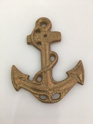 Vintage Solid brass anchor wall nautical decoration boat decor marine ship mount