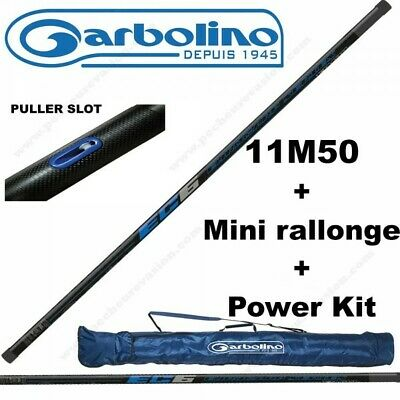 Pack Coup Carpe Garbolino Euro Carp Ec6 11M50 (Avec Mini-Rallonge) + Power Kit +