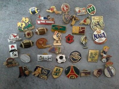 Lot pin's sport foot rugby etc OM PSG