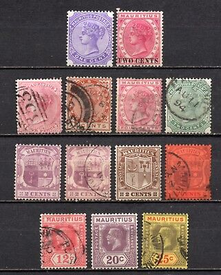Mauritius nice mixed used & mint no gum collection,stamps as per scan(4615)