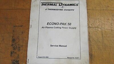 Thermal Dynamics Econo-Pak 50  Service manual