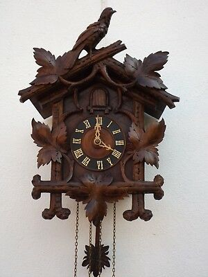 Antique Black Forest Cuckoo Clock, good working order with some minor repairs