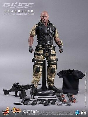 G.I.Joe ROADBLOCK 30cm Figur Movie Masterpiece OVP Hot Toys D. The Rock Johnson