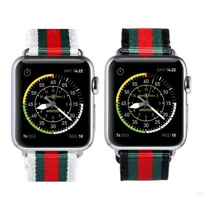 2b216c39bf6 Apple Watch Gucci Pattern Sport Nylon Leather Replacement Band Strap 38mm  42mm