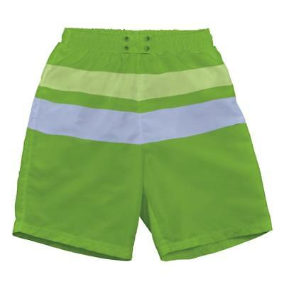 I Play Boys Baby SwimShorts with Integrated Swim Diaper Green