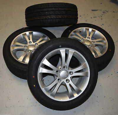 "4 x 15"" New Alloy Wheels with New Syron Race Tyres 195/50/ R15 82V 5 x 112"