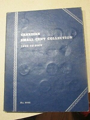 Canadian Small Cent Collection 1920-1965 in Blue Folder Book Includes 41 Cents