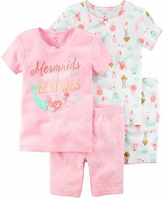 7a72eb344 CARTERS GIRLS 2T-16 4-pc Dinos Snug Fit Cotton Pajama Set 3T