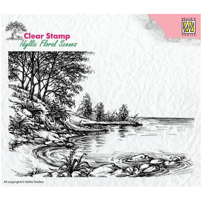 Nellie`s Choice Clear Stamps idyllic floral Wasserrand IFS006 140x95mm 5102206