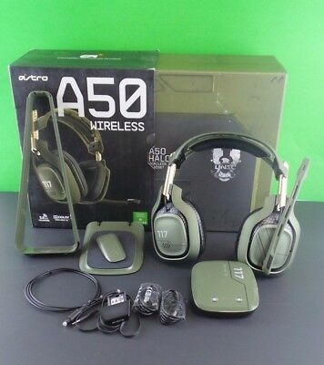Astro A50 Gaming Headset Halo edition for PC, PS4 Used Read #hal00