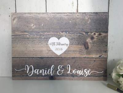 Wedding Guest Book Alternative Guestbook Rustic Wedding Guest Board Wood Effect