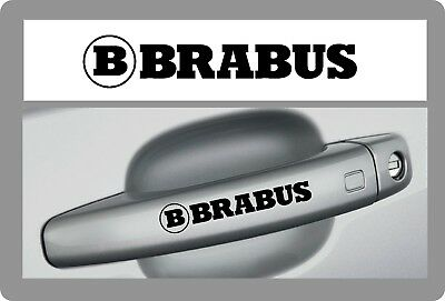 Mercedes BRABUS -  4 x DOOR HANDLE - CAR DECALS STICKERS ADHESIVES - 95mm long