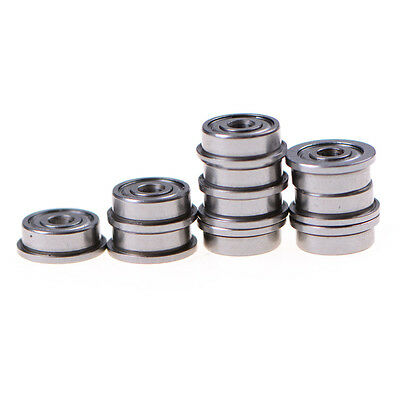 10X F623ZZ Mini Metal Double Shielded Flanged Ball Bearings For 3D printerRWTY