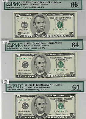 USA - SEVEN $5 Replacement Notes, USN'S & SC'S