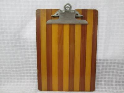 Vintage Globe Wernicke Wood Clipboard Metal Clip 9x12 USA Industrial Wooden