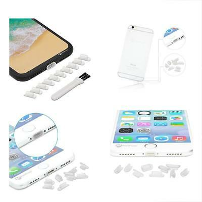 IPhone 8,7 Charging Port Silicone Cap Cover 10 PC Lightning Plug Anti Dust Clear